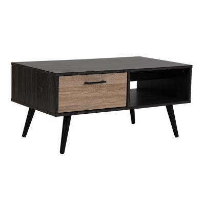 BLACK COFFEE TABLE WENGE BITTER SONOMA ΜΑΥΡΟ 90x50xH43cm