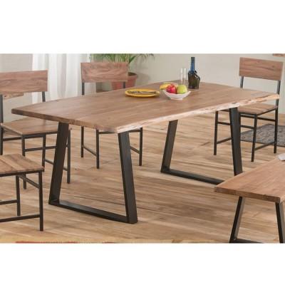 LIZARD Τραπέζι 200x95x75cm Ακακία Φυσικό/Μεταλ.Μαύρο