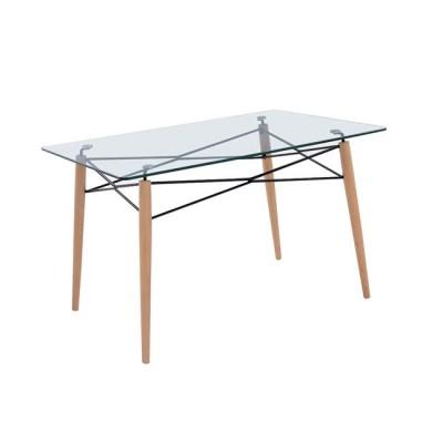 ART Wood Τραπέζι 120x80cm Ξύλο/Γυαλί 10mm