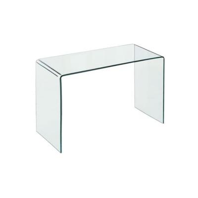 GLASSER Clear Γραφείο/Τραπέζι 120x60x75cm Γυαλί 12mm