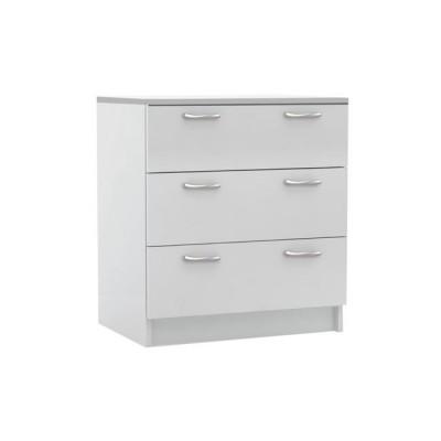 DECON Συρταριέρα 3-Σ 60x40x68cm Άσπρη