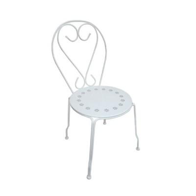 BISTRO Καρέκλα Μεταλ.'Ασπρη