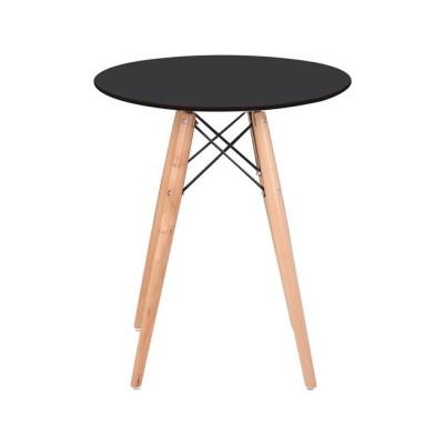 ART Wood Τραπέζι Φ60/H68cm Μαύρο