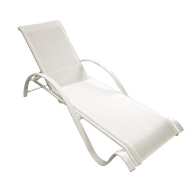 NEXT Ξαπλώστρα ALU Λευκό/Textilene Λευκό