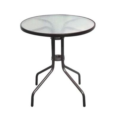 BALENO Τραπέζι Φ60cm Μεταλ.Καφέ