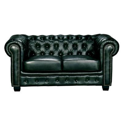 CHESTERFIELD 689 Καναπές 2Θέσιος Σαλονιού - Καθιστικού, Δέρμα, Απόχρωση Antique Green