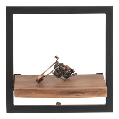 LIZARD Frame Ράφι 35x25x35cm Ακακία Φυσικό/Μετ.Μαύρο