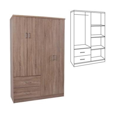 LIFE Ντουλάπα 4-πόρτες 119x42x180 Sonoma