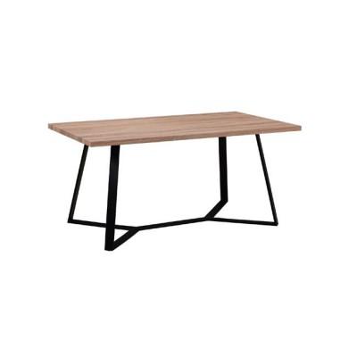 HANSON Τραπέζι 160x90cm Sonoma/Βαφή Μαύρη
