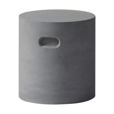 CONCRETE Cylinder Σκαμπώ D.37cm Cement Grey