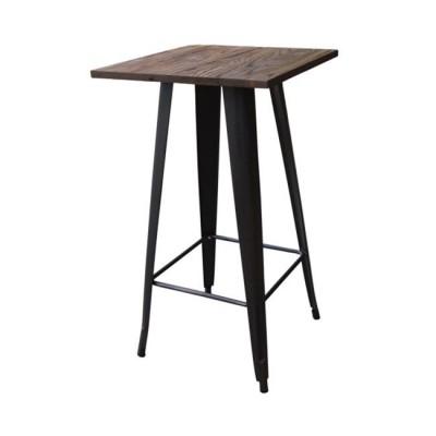 RELIX Wood Dark Oak Τραπέζι BAR 60x60 Μεταλ.Antique Black