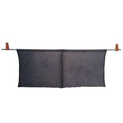Μαξιλάρια Τοίχου Lora 090x180 και Σωλήνα Στήριξης με Δερμάτινα Στηρίγματα με Αντιρίδα 220