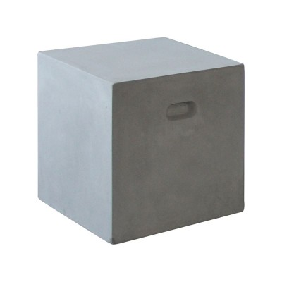 CONCRETE Cubic Σκαμπώ 37x37cm Cement Grey