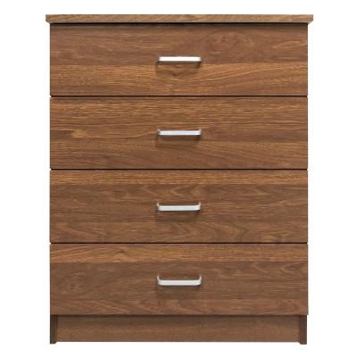 DRAWER Συρταριέρα 4-Συρτάρια 60x40x80cm Καρυδί
