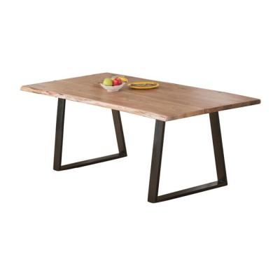 LIZARD Τραπέζι 160x90x75cm Ακακία Φυσικό/Μεταλ.Μαύρο