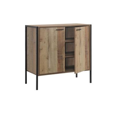 PALLET-W Ντουλάπι-Παπουτσοθήκη 2-Πόρτες 80x40x80 Antique Oak