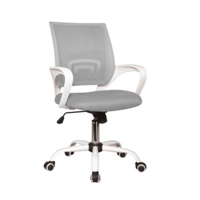 BF2101-S Πολυθρόνα Άσπρη/Γκρι Mesh