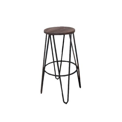 ARCO Wood Dark Oak Σκαμπώ BAR Antique Black