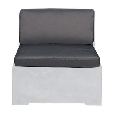 CONCRETE Set Μαξ.Καρέκλας (2τ) Ύφ.Water Repellent Γκρι