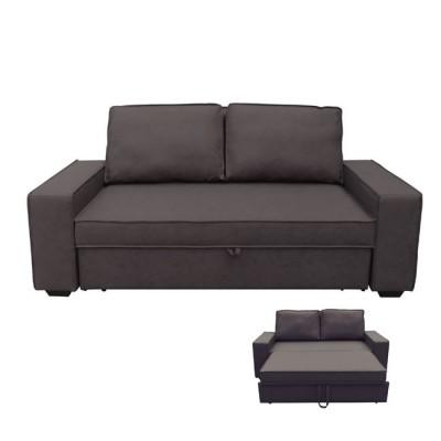 ALISON Καναπ.Κρεβάτι Nabuk Σκ.Καφέ 176x102x91cm