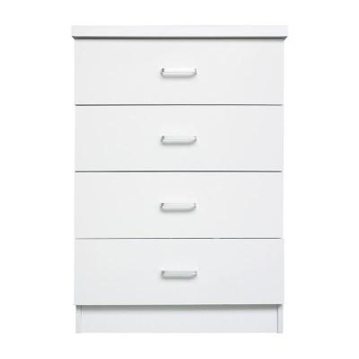 DRAWER Συρταριέρα 4-Συρτάρια 60x40x80cm Άσπρο