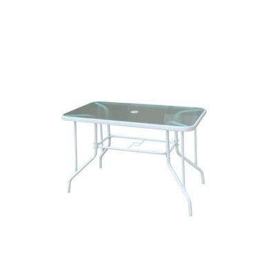 BALENO Τραπέζι 110x60cm Μεταλλικό Άσπρο