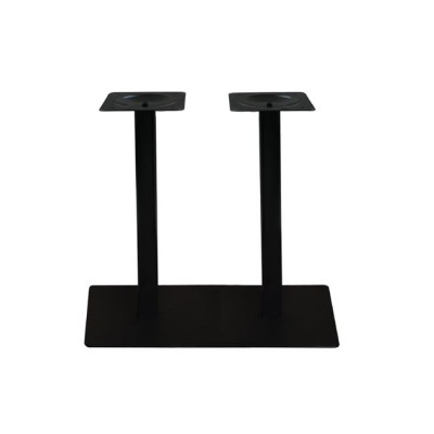 PRATO BAR Βάση 70x40cm Steel Μακρόστενη H108cm Μαύρο