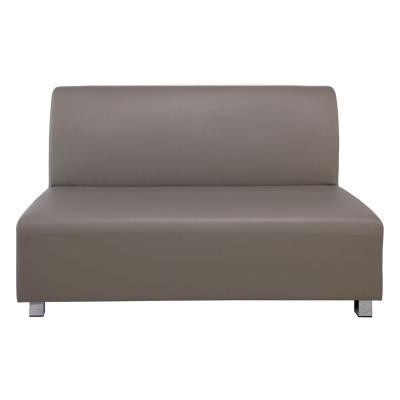 BANDY Καναπές Σαλονιού Καθιστικού 2Θέσιος - Pu Sand Grey