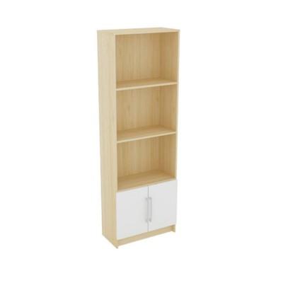 DECON Βιβλιοθήκη 60x29x180cm απόχρ.Σημύδας/Άσπρο