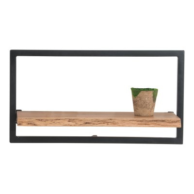 LIZARD Frame Ράφι 65x25x35cm Ακακία Φυσικό/Μετ.Μαύρο