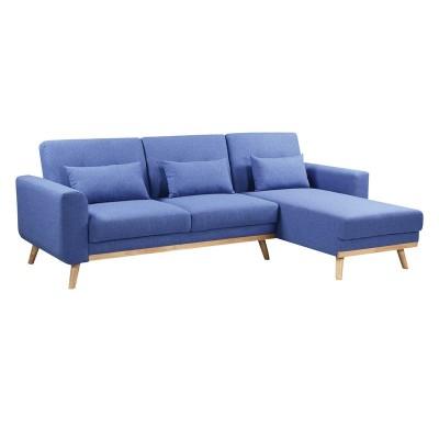 BACKER Καναπές / Κρεβάτι Σαλονιού - Καθιστικού Γωνία Αναστρέψιμη / Ύφασμα Μπλε