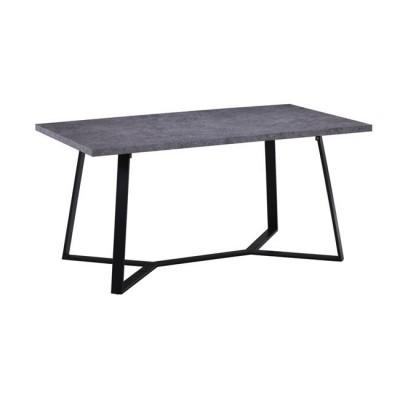 HANSON Τραπέζι 160x90cm Cement/Βαφή Μαύρη