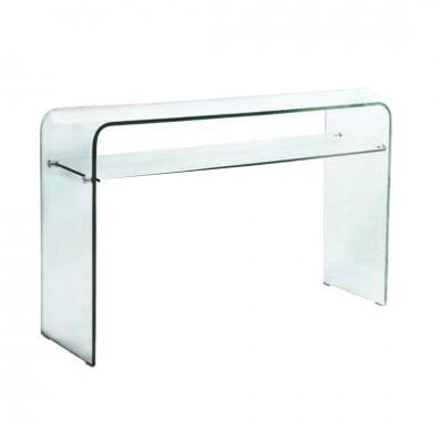 GLASSER Clear Κονσόλα με ράφι γυαλί 12mm 110x35x75cm